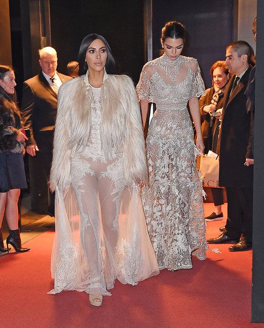 Kim Kardashian and Kendall Jenner are seen on January 16, 2017 in New York City. (Photo by NCP/Star Max/GC Images)