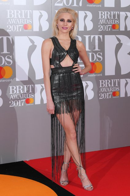 Pixie Lott attends The BRIT Awards 2017 at The O2 Arena on February 22, 2017 in London, England. (Photo by David Fisher/Rex Features/Shutterstock)