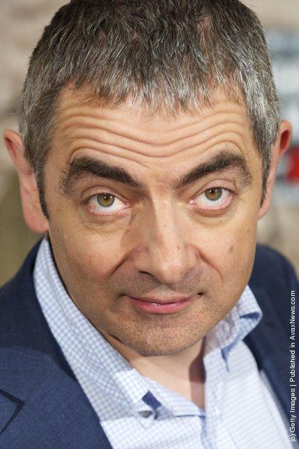 Actor Rowan Atkinson attends Johnny English Returns photocall