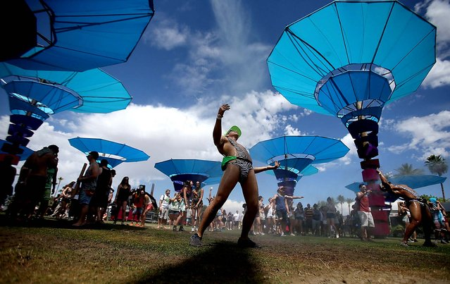 The scene at the Coachella Music and Arts Festival. (Photo by Luis Sinco/Los Angeles Times/MCT)