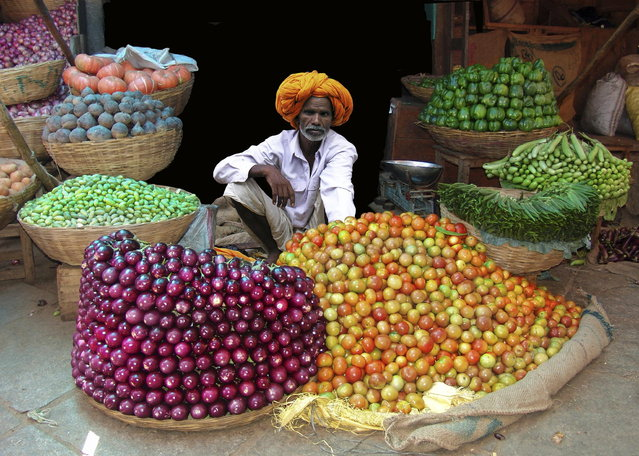 """Green Grocer – Rajasthan"". (Photo by Michael Sheridan)"