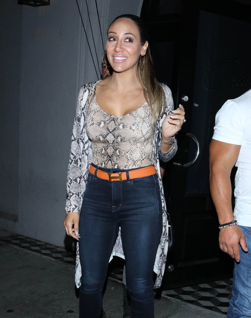 Melissa Gorga is seen on October 20, 2019 in Los Angeles, California.  (Photo by OGUT/Star Max/GC Images)