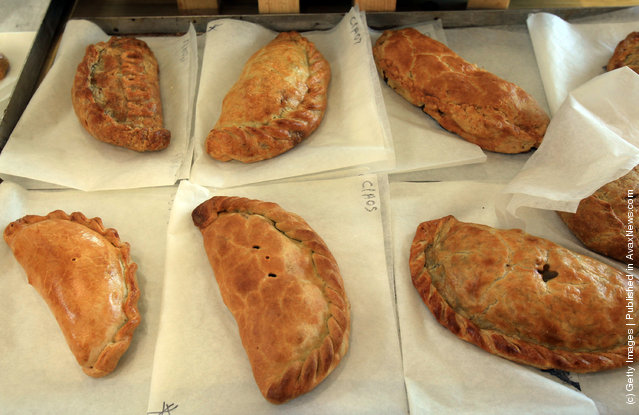 Cornish pasties that have been baked as part of the World Cornish Pasty Championships at The Eden Project are judged