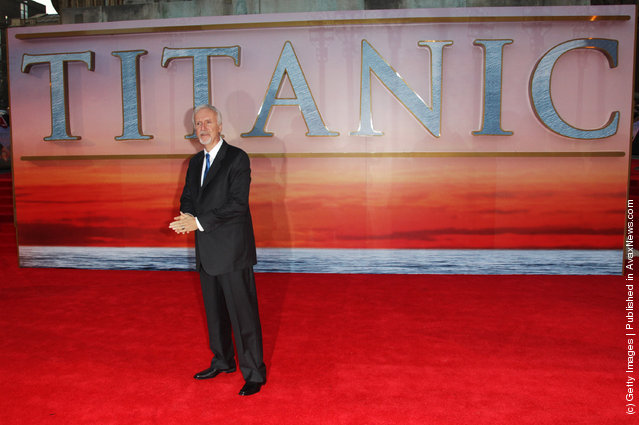 James Cameron attends the world premiere of Titanic 3D at The Royal Albert Hall