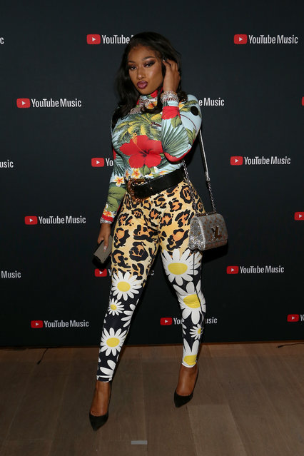 Megan Thee Stallion attends A Celebration of The Fearless Women in Music Hosted by YouTube Music and Megan Thee Stallion at Spring Studios on December 11, 2019 in Los Angeles, California. (Photo by Tommaso Boddi/Getty Images)