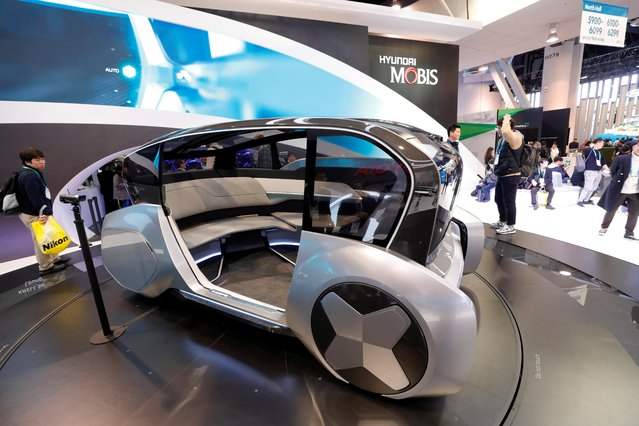 The M Vision S, a hydrogen fuel cell-powered, autonomous concept car, is displayed at the Hyundai Mobiis booth during the 2020 CES in Las Vegas, Nevada, U.S. January 7, 2020. (Photo by Steve Marcus/Reuters)
