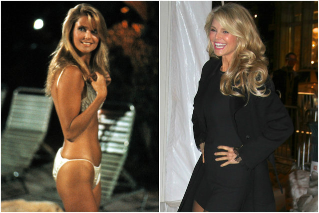 Christie Brinkley in 1985 and today. (Photo by Everett Collection/Splash)