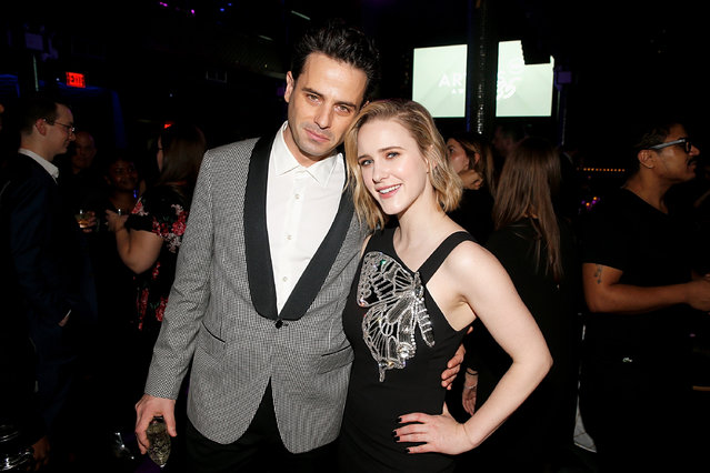 Luke Kirby and Rachel Brosnahan attend the 35th Annual Artios Awards at Stage 48 on January 30, 2020 in New York City. (Photo by Dominik Bindl/Getty Images)
