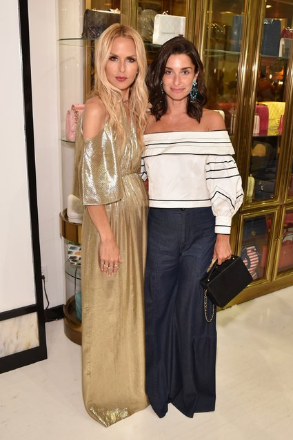 Fashion Designer Rachel Zoe (L) and Candice Miller attend the Rachel Zoe x What Goes Around Comes Around pop-in on August 4, 2017 in East Hampton, New York. (Photo by Bryan Bedder/Getty Images for Rachel Zoe)