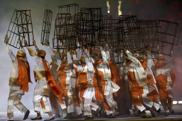 2016 Rio Olympics, Opening ceremony, Maracana, Rio de Janeiro, Brazil on August 5, 2016. Performers take part in the opening ceremony. (Photo by Damir Sagolj/Reuters)