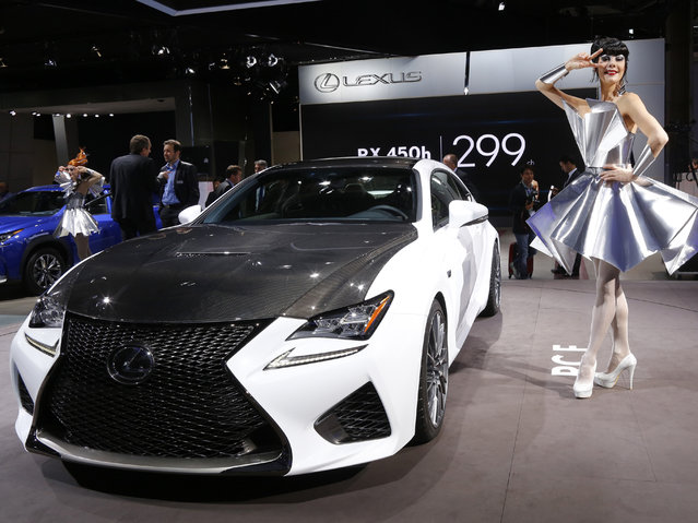 A Lexus RCF car is displayed on media day at the Paris Mondial de l'Automobile, October 2, 2014. (Photo by Jacky Naegelen/Reuters)
