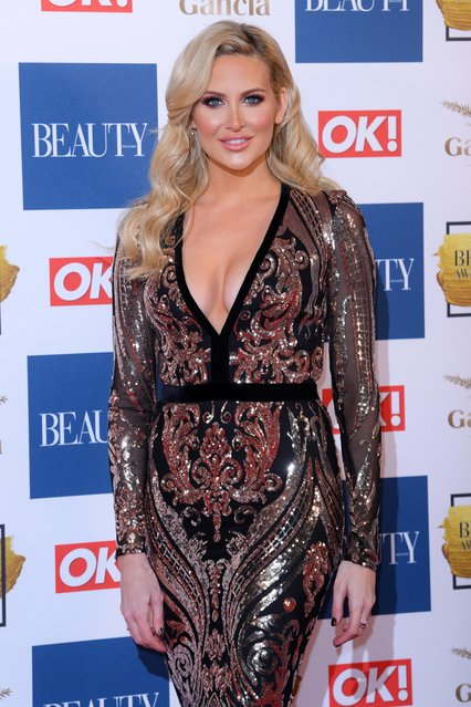 Stephanie Pratt attends The Beauty Awards at Tower of London on November 28, 2017 in London, England. (Photo by David Fisher/Rex Features/Shutterstock)