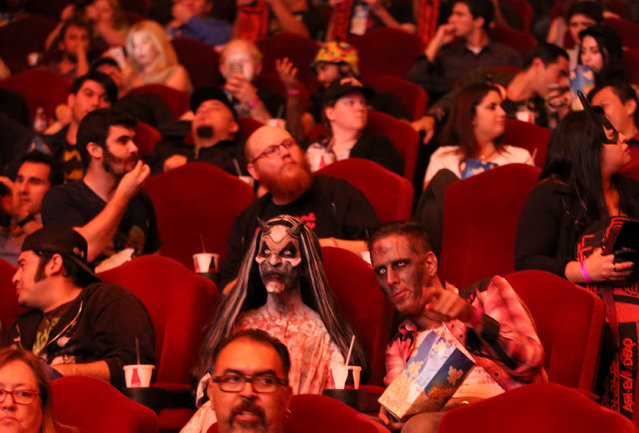 """A general view of the atmosphere is seen during the premiere of STARZ' """"Ash vs. Evil Dead"""" at the TCL Chinese Theater on Wednesday, October 28, 2015, in Los Angeles. (Photo by Matt Sayles/Invision for STARZ Entertainment/AP Images)"""