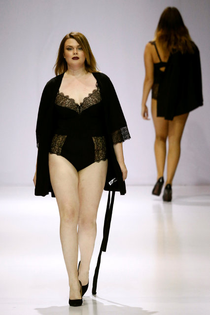 Models present creations as part of La Redoute plus size fashion boutique collection during the Moscow Fashion Week in Moscow, Russia, October 19, 2016. (Photo by Sergei Karpukhin/Reuters)