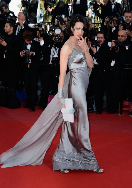 """Actress Asia Argento attends the """"Zulu"""" Premiere and Closing Ceremony during the 66th Annual Cannes Film Festival at the Palais des Festivals on May 26, 2013 in Cannes, France.  (Photo by Pascal Le Segretain/Getty Images)"""