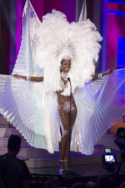 Shanice Williams, Miss Turks & Caicos 2014, debuts her national costume during the Miss Universe Preliminary Show in Miami, Florida in this January 21, 2015 handout photo. (Photo by Reuters/Miss Universe Organization)
