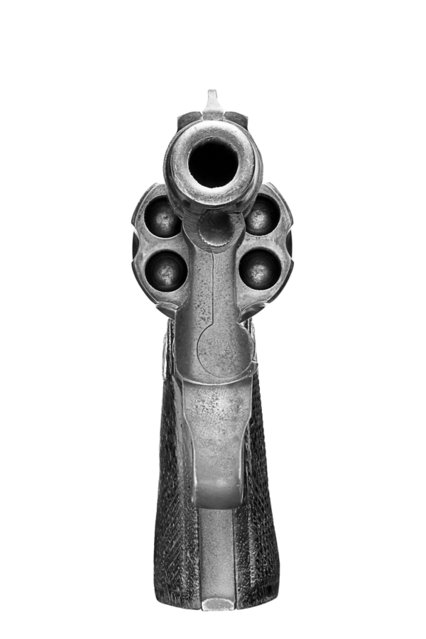 """Smith & Wesson .38 Revolver; """"Point Blank"""" – Gun Series by Peter Andrew. (Photo by Peter Andrew)"""