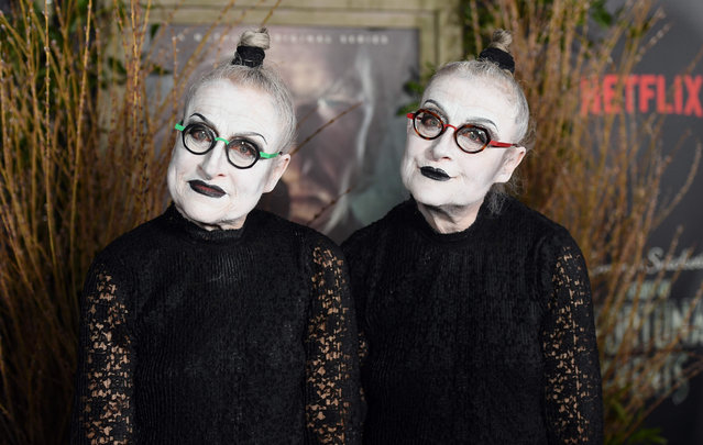 """Actresses Jacqueline Robbins and Joyce Robbins attend  attends the premiere of Netflix's """"A Series of Unfortunate Events"""" at AMC Lincoln Square Theater on January 11, 2017 in New York. (Photo by Angela Weiss/AFP Photo)"""