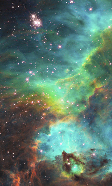 An image of a nebula about 170,000 light-years away. (Photo by Reuters/NASA/ESA/Hubble)