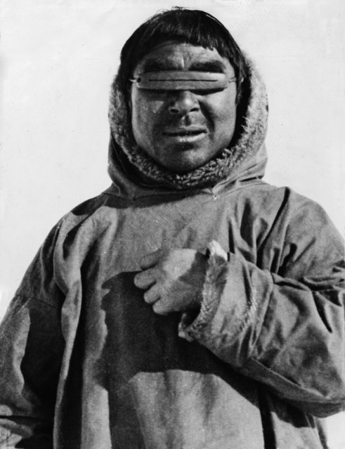Inuit (Eskimo) with snow goggles, 20th century. Yellowknife, Prince Of Wales Northern Heritage Centre (Photo by DeAgostini/Getty Images)