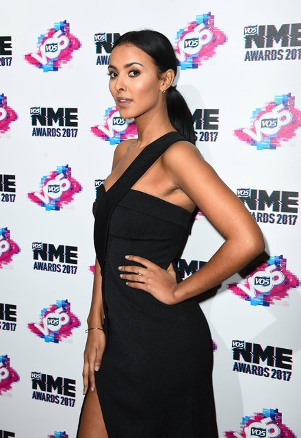 Maya Jama arrives at the VO5 NME awards 2017 on February 15, 2017 in London, United Kingdom. (Photo by PA Wire)