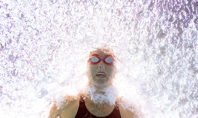 Australia's Emma Mckeon competes in a heat for the women's 100m butterfly event during the swimming competition at the 2019 World Championships at Nambu University Municipal Aquatics Center in Gwangju, South Korea, on July 21, 2019. (Photo by François-Xavier Marit/AFP Photo)