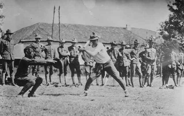 U.S. Army soldiers playing baseball in France in 1917. (Photo by Reuters/Courtesy Library of Congress)
