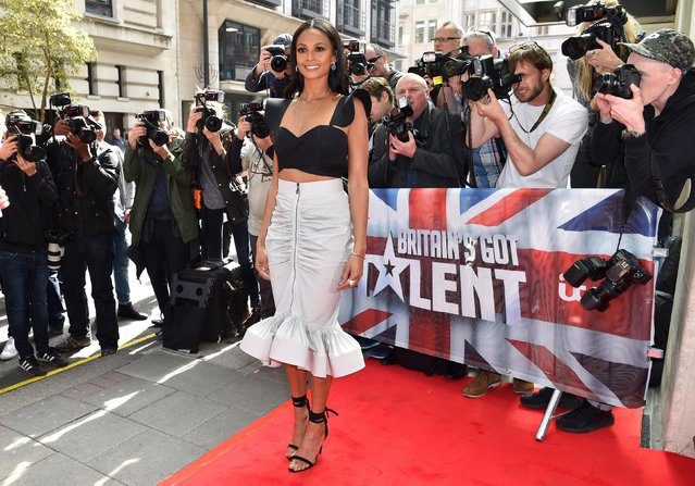 Alesha Dixon attends the red carpet arrivals for the new series of Britain's Got Talent at the Mayfair Hotel on April 12, 2017 in London, United Kingdom. (Photo by PA Wire)