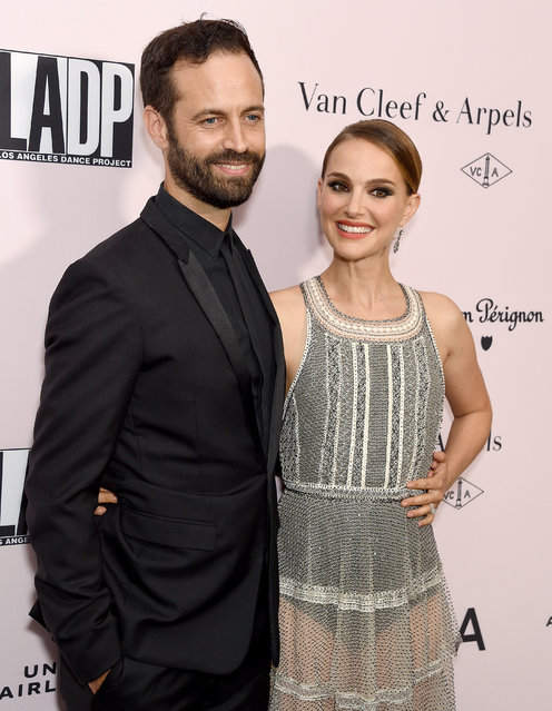 Natalie Portman and Benjamin Millepied arrive at the L.A. Dance Project Annual Gala at Hauser & Wirth on October 19, 2019 in Los Angeles, California. (Photo by Gregg DeGuire/FilmMagic)