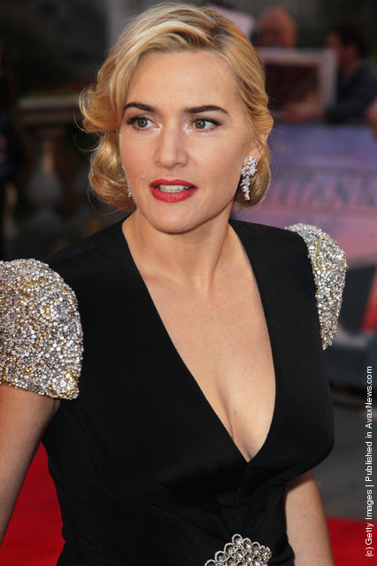 Kate Winslet attends the world premiere of Titanic 3D at The Royal Albert Hall