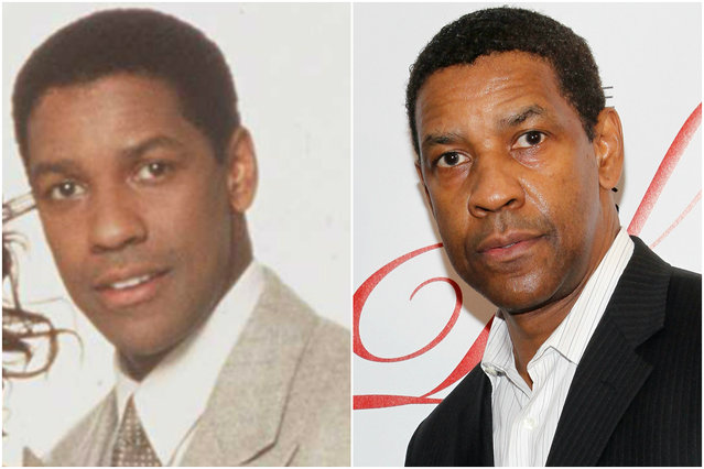Denzel Washington in 1994 and today. (Photo by Everett Collection/Getty Images)