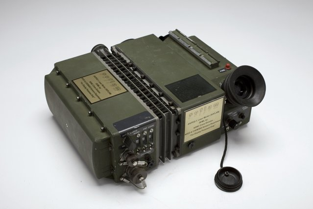 US Special Operations Forces in Afghanistan used the AN/PEQ-1A SOFLAM to direct exact delivery of ordnance. The SOFLAM was an important tool in the battle for Tora Bora where a CIA US Special Forces team directed 72 hours of unrelenting air strikes – sometimes dangerously close to their own position – killing hundreds of al Qa'ida terrorists. (Photo by Central Intelligence Agency)