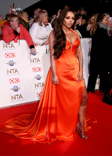 Jesy Nelson attends the National Television Awards 2020 at The O2 Arena on January 28, 2020 in London, England. (Photo by Mike Marsland/WireImage)