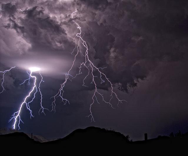 Thunderstorm outside Bisbee, Arizona on 11 August, 2010