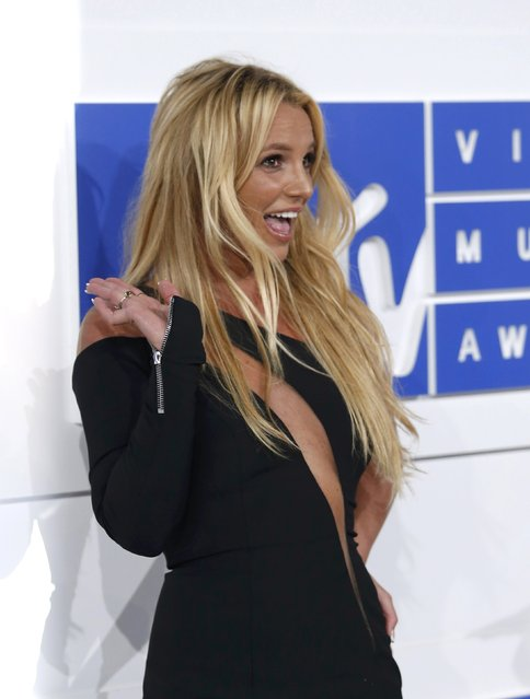 Singer Britney Spears arrives at the 2016 MTV Video Music Awards in New York, U.S., August 28, 2016. (Photo by Eduardo Munoz/Reuters)