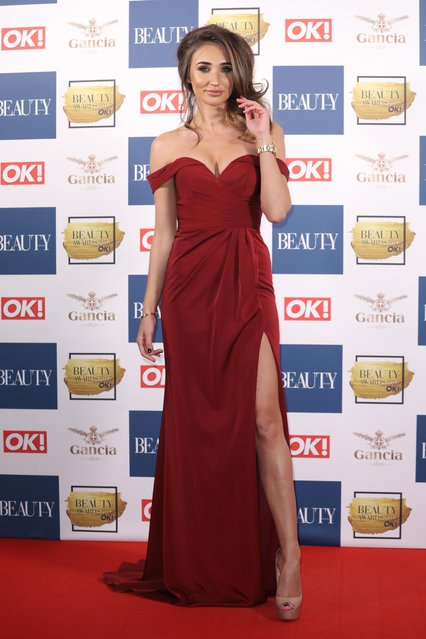 Megan McKenna attends The Beauty Awards at Tower of London on November 28, 2017 in London, England. (Photo by Flynet Pictures)