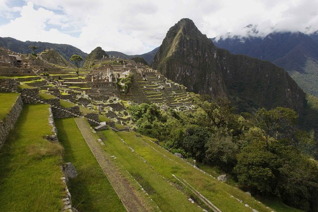 Terraces are seen next to the Inca citadel of Machu Picchu in Cusco December 2, 2014. (Photo by Enrique Castro-Mendivil/Reuters)