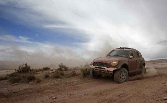 Mini driver Stephan Schott of Germany drives during the 7th stage of the Dakar Rally 2015, from Iquique to Uyuni, January 10, 2015. (Photo by Jean-Paul Pelissier/Reuters)