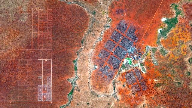 Dadaan Refugee Camp, Kenya. (Photo by Benjamin Grant/Digital Globe/Caters News)