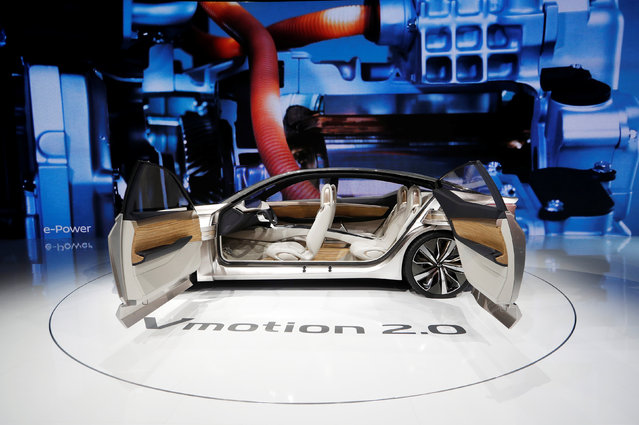 The Nissan Vmotion 2.0 concept car is displayed during the North American International Auto Show in Detroit, Michigan, U.S., January 10, 2017. (Photo by Mark Blinch/Reuters)