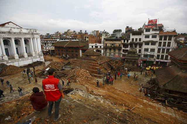 A general view of Bashantapur Durbar Square, a UNESCO world heritage site, after the earthquake as rescue operation goes on in Kathmandu, Nepal April 28, 2015. (Photo by Navesh Chitrakar/Reuters)