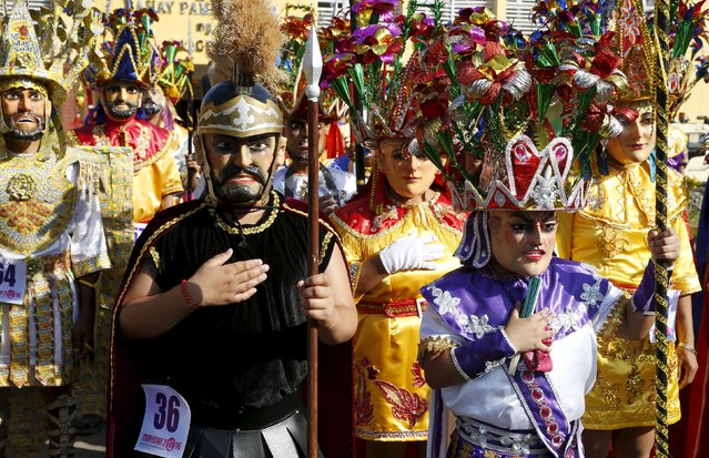 """Penitents locally called """"Morions"""" take part in the start of Holy Week celebrations in Mogpog, Marinduque in central Philippines March 21, 2016. (Photo by Erik De Castro/Reuters)"""