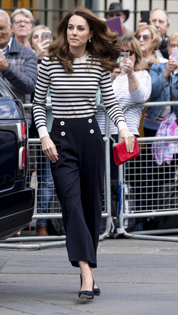 Catherine, Duchess of Cambridge launches the King's Cup Regatta at Cutty Sark, Greenwich on May 7, 2019 in London, England. (Photo by Mark Cuthbert/UK Press via Getty Images)