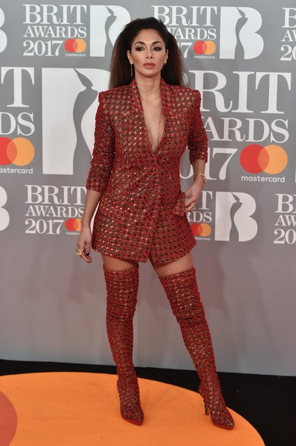 Nicole Scherzinger attends The BRIT Awards 2017 at The O2 Arena on February 22, 2017 in London, England. (Photo by Joe Maher/FilmMagic)