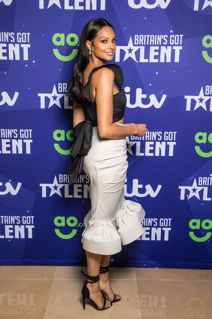 Alesha Dixon attends the red carpet arrivals for the new series of Britain's Got Talent at the Mayfair Hotel on April 12, 2017 in London, United Kingdom. (Photo by Splash News and Pictures)