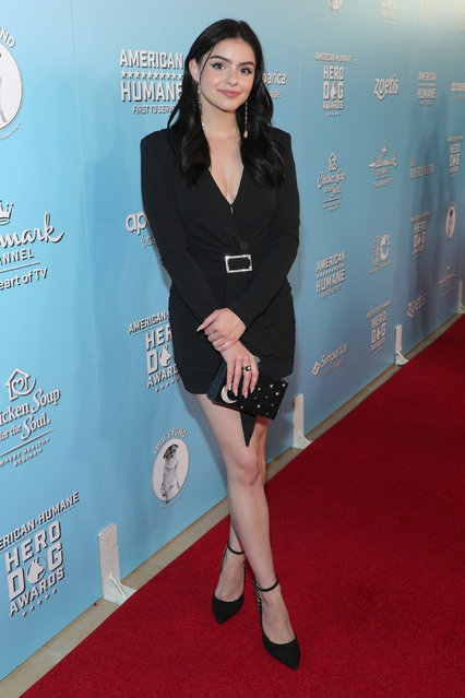 Ariel Winter is seen at the 2019 American Humane Hero Dog Awards at The Beverly Hilton on Saturday, October 5, 2019, in Beverly Hills, Calif. The 2019 American Humane Hero Dog Awards airs October 21, at 8pm ET/PT on Hallmark Channel. (Photo by John Salangsang/Invision for American Humane/AP Images)