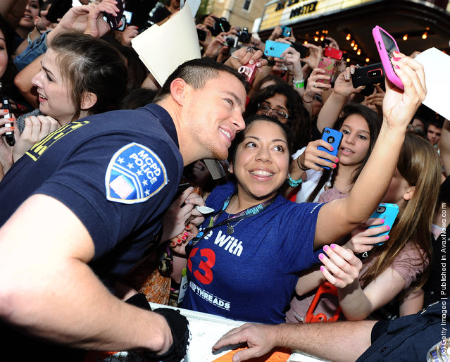 Actor Channing Tatum arrives at the World Premiere of  '21 Jump Street' during the 2012 SXSW Music, Film + Interactive Festival at Paramount Theater