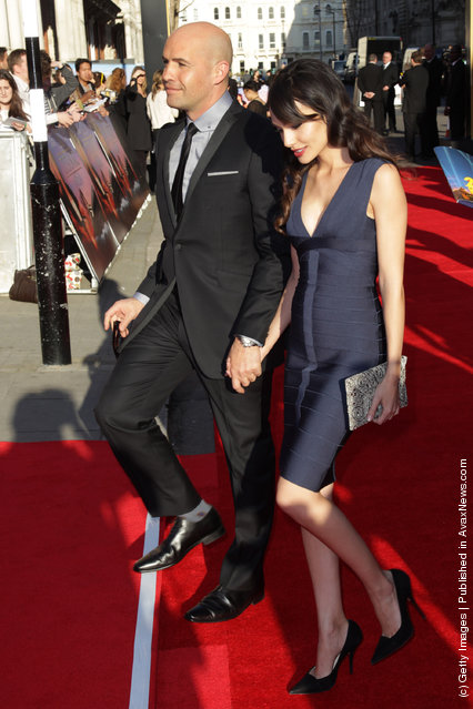 Billy Zane and Jasmina Hdagha attend the world premiere of Titanic 3D at The Royal Albert Hall