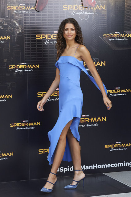 Zendaya at the Spider-Man: Homecoming photocall at Hotel Villa Magna. Madrid, Spain on Wednesday, June 14, 2017. (Photo by LOOK Press/PacificCoastNews)