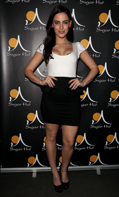 Jessica Lowndes attends a party at the Sugar Hut at Sugar Hut